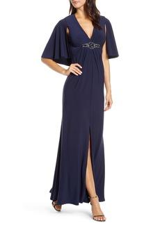 Eliza J Cape Back Gown