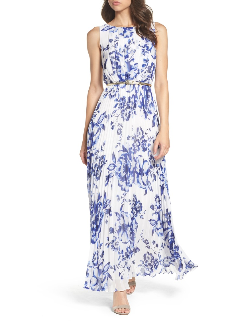 exclusive deals purchase authentic world-wide free shipping Pleated Floral Chiffon Maxi Dress (Regular & Petite)