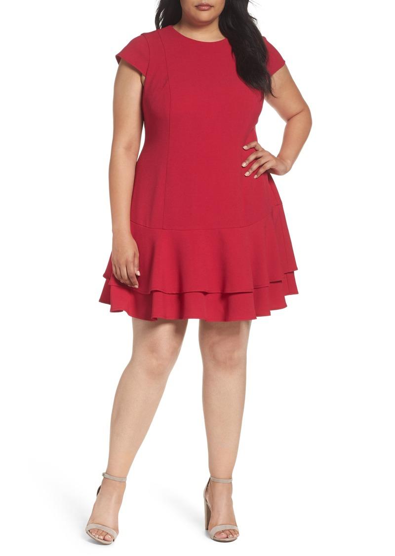 Eliza J Eliza J Crepe Drop Waist Dress (Plus Size) | Dresses