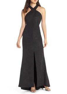 Eliza J Crisscross Neck Gown