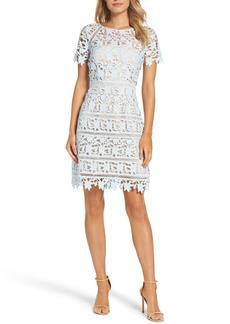 Eliza J Crochet Overlay Dress (Regular & Petite)