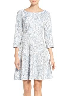 Eliza J Embroidered Floral Fit & Flare Dress (Regular & Petite)