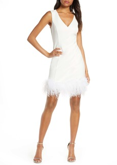 Eliza J Feather Cocktail Dress