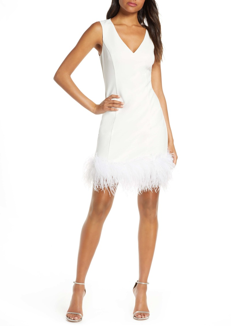 Eliza J Feather Cocktail Dress