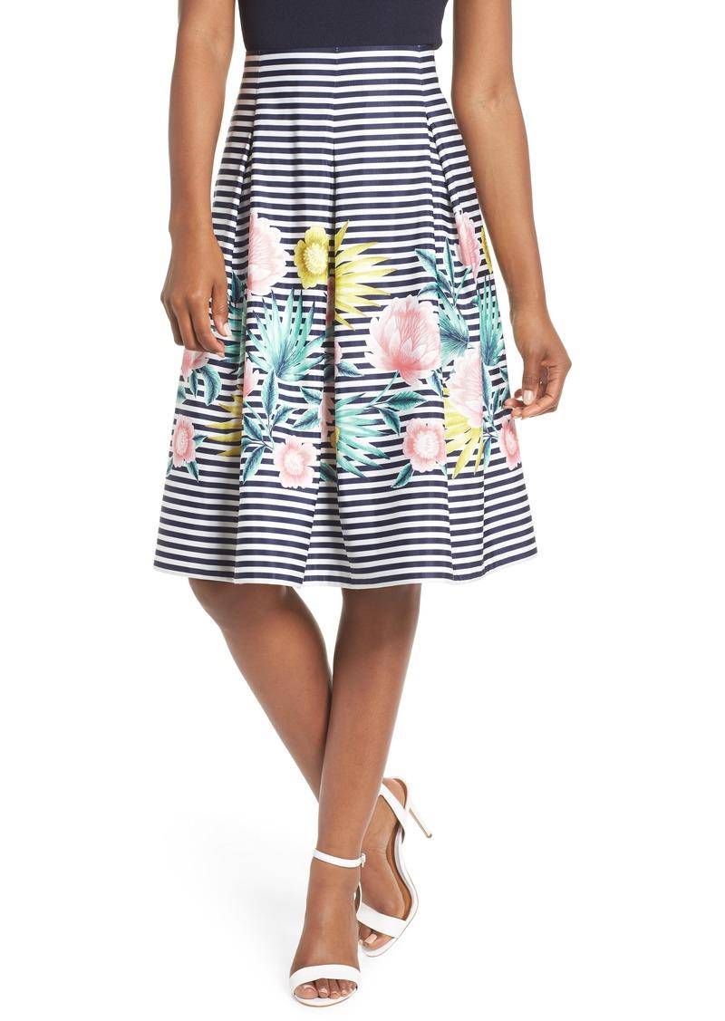 5d3d793796 Eliza J Eliza J Floral & Stripe A-Line Skirt | Skirts