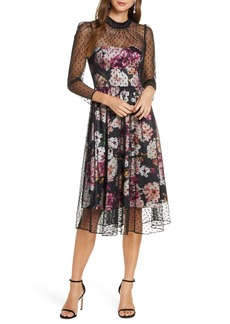 Eliza J Floral Illusion Cocktail Dress