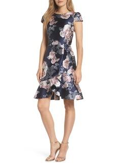 Eliza J Floral Jacquard Dress
