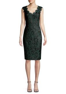 Eliza J Floral Lace Cotton-Blend Sheath Dress