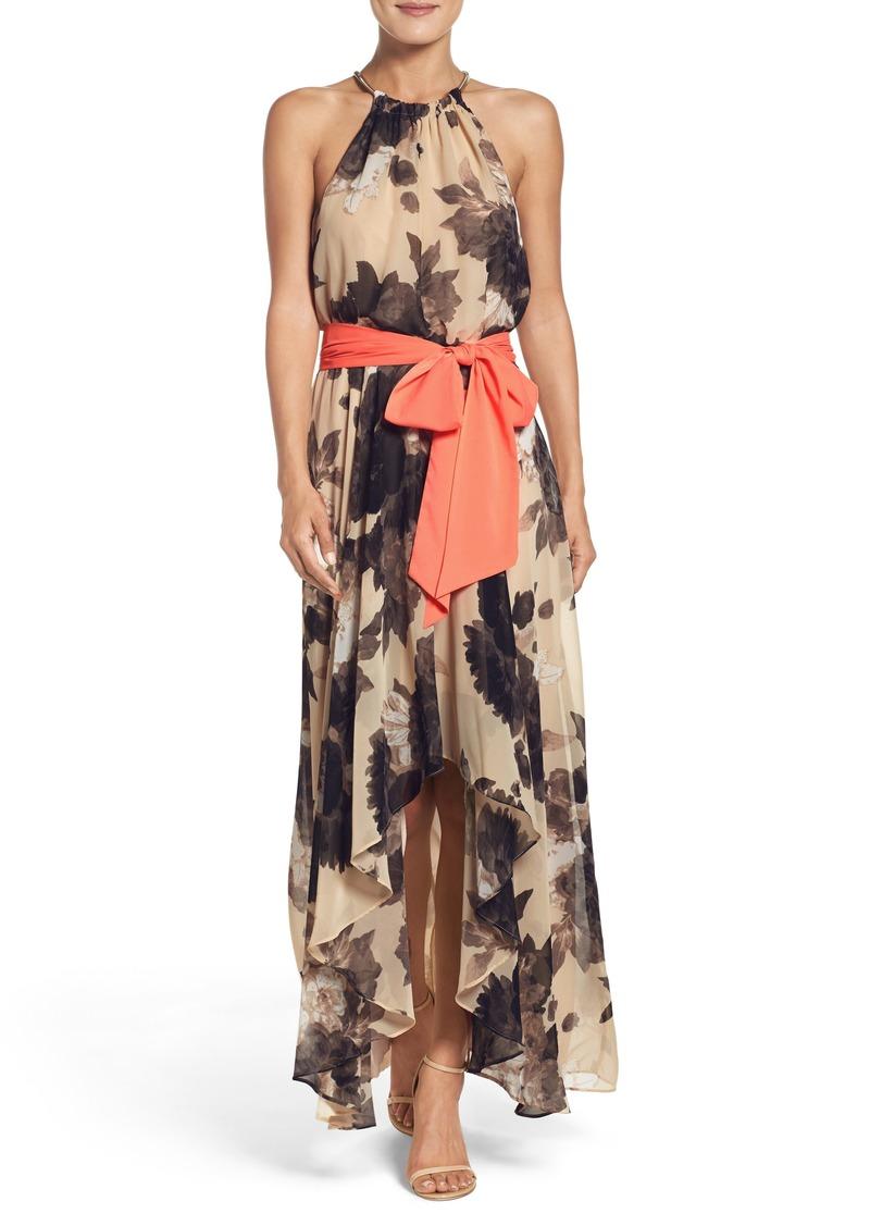 e5b41812a2c9d Eliza J Eliza J Floral Print Halter Chiffon Maxi Dress