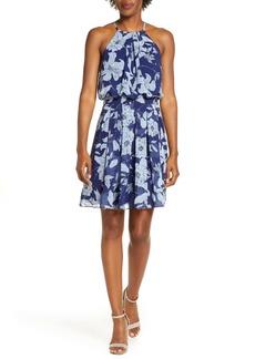 Eliza J Floral Print Halter Dress