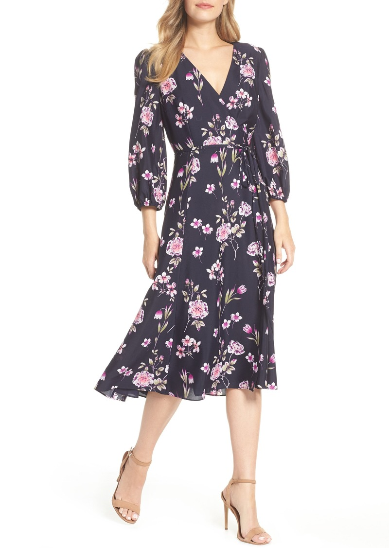 fb9451add1324 Eliza J Eliza J Floral Print Wrap Dress (Regular & Petite) | Dresses