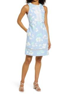 Eliza J Floral Sleeveless A-Line Dress