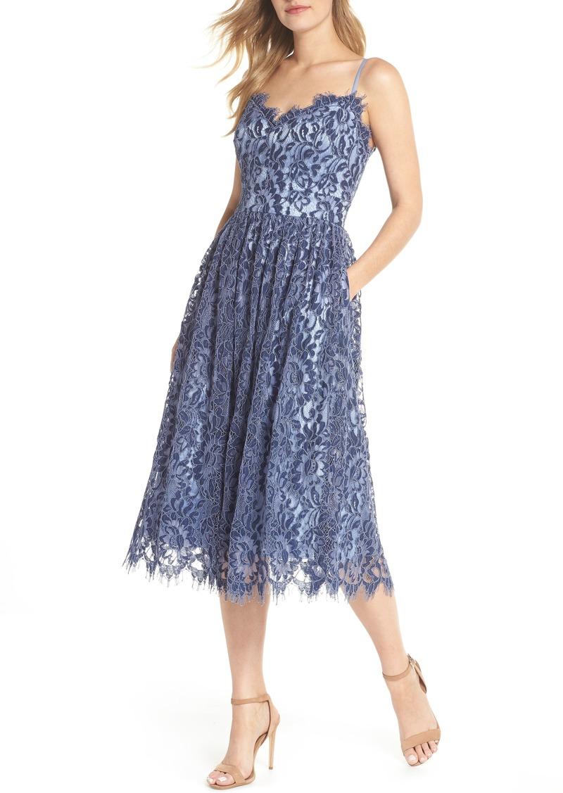 f6839f9d5837 Eliza J Eliza J Gathered Lace Midi Dress (Regular & Petite) Now $118.80