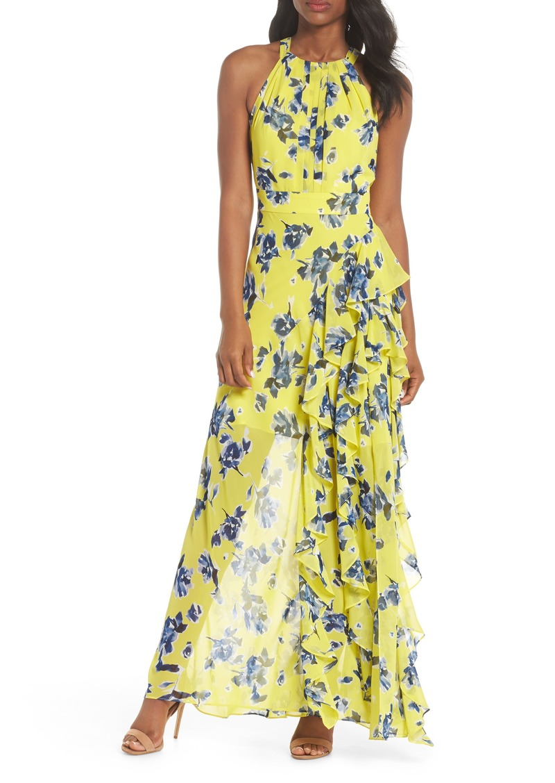 4963f6909df8 Eliza J Eliza J Halter Ruffle Maxi Dress (Regular & Petite) | Dresses