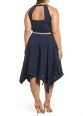 ebb9f4350b831 Eliza J Eliza J Handkerchief Hem Fit   Flare Dress (Plus Size)