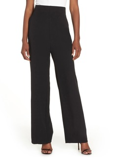 Eliza J High Waist Straight Leg Pants