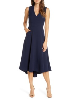 Eliza J High/Low Fit & Flare Dress