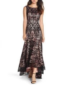 Eliza J High/Low Lace Gown (Regular & Petite)