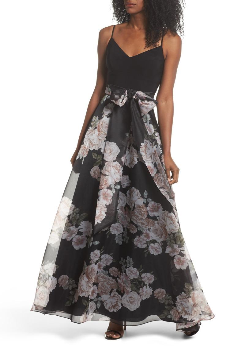 311ad2f234 Eliza J Eliza J Knit & Print Organza Ballgown | Dresses