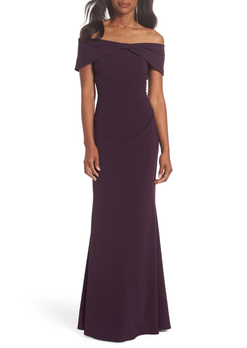 569dd288fdf5 Eliza J Eliza J Knot Front Off the Shoulder Gown