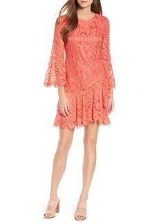 Eliza J Lace Bell Sleeve Dress (Regular & Petite)