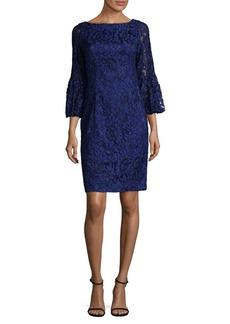 Eliza J Lace Bell-Sleeve Sheath Dress
