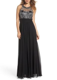 Eliza J Lace Bodice Gown  (Regular & Petite)