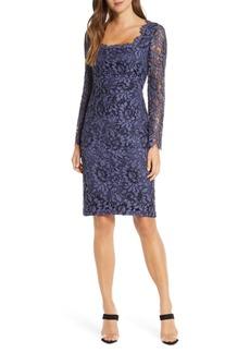 Eliza J Lace Long Sleeve Sheath Dress