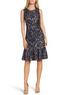 Eliza J Lace Midi Dress