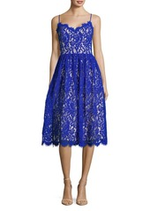 Eliza J Lace Scalloped Fit-&-Flare Dress