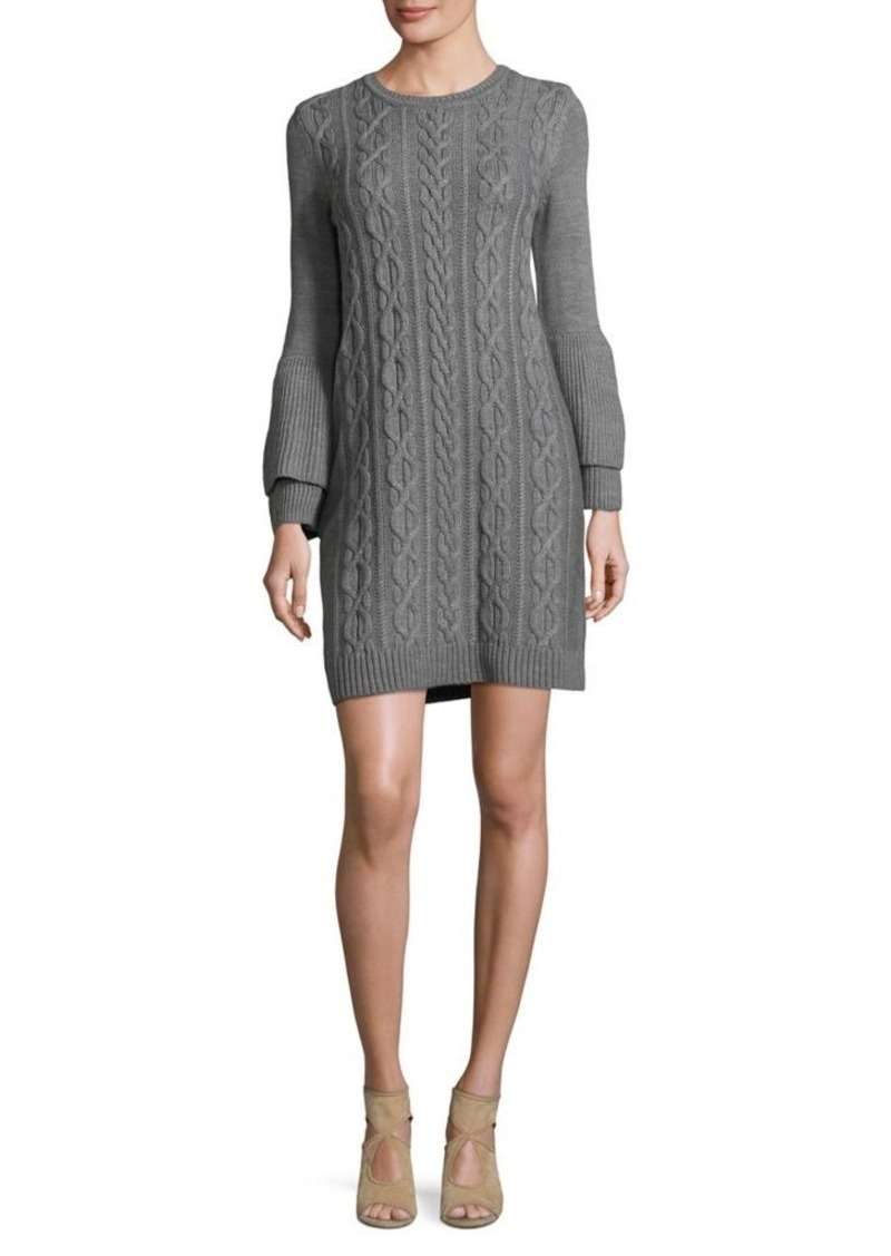 86050122bdc SALE! Eliza J Eliza J Long Sleeve Cable-Knit Sweater Dress
