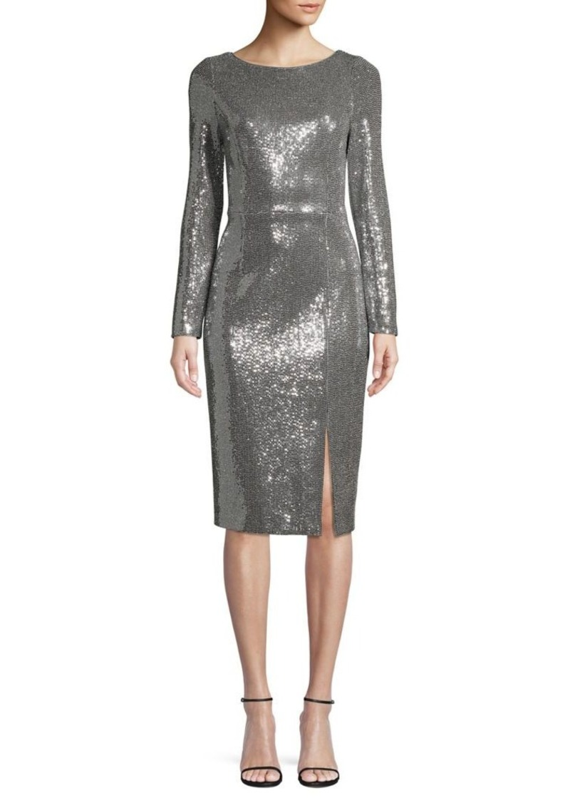 Eliza J Metallic Knee-Length Sheath Dress