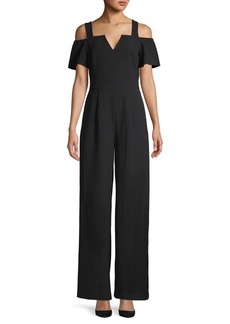 Eliza J Off-The-Shoulder Boot-Cut Jumpsuit