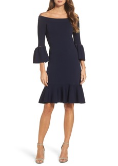 Eliza J Off the Shoulder Flare Hem Dress
