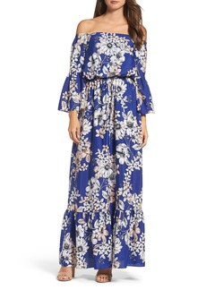 Eliza J Off the Shoulder Floral Maxi Dress (Regular & Petite)