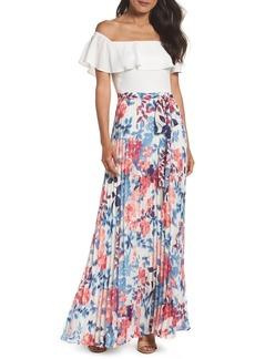 Eliza J Off the Shoulder Maxi Dress