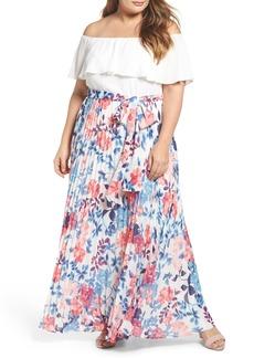 Eliza J Off the Shoulder Maxi Dress (Plus Size)