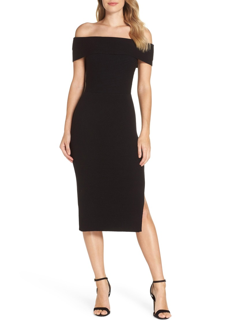 Eliza J Eliza J Off The Shoulder Midi Sweater Dress Dresses