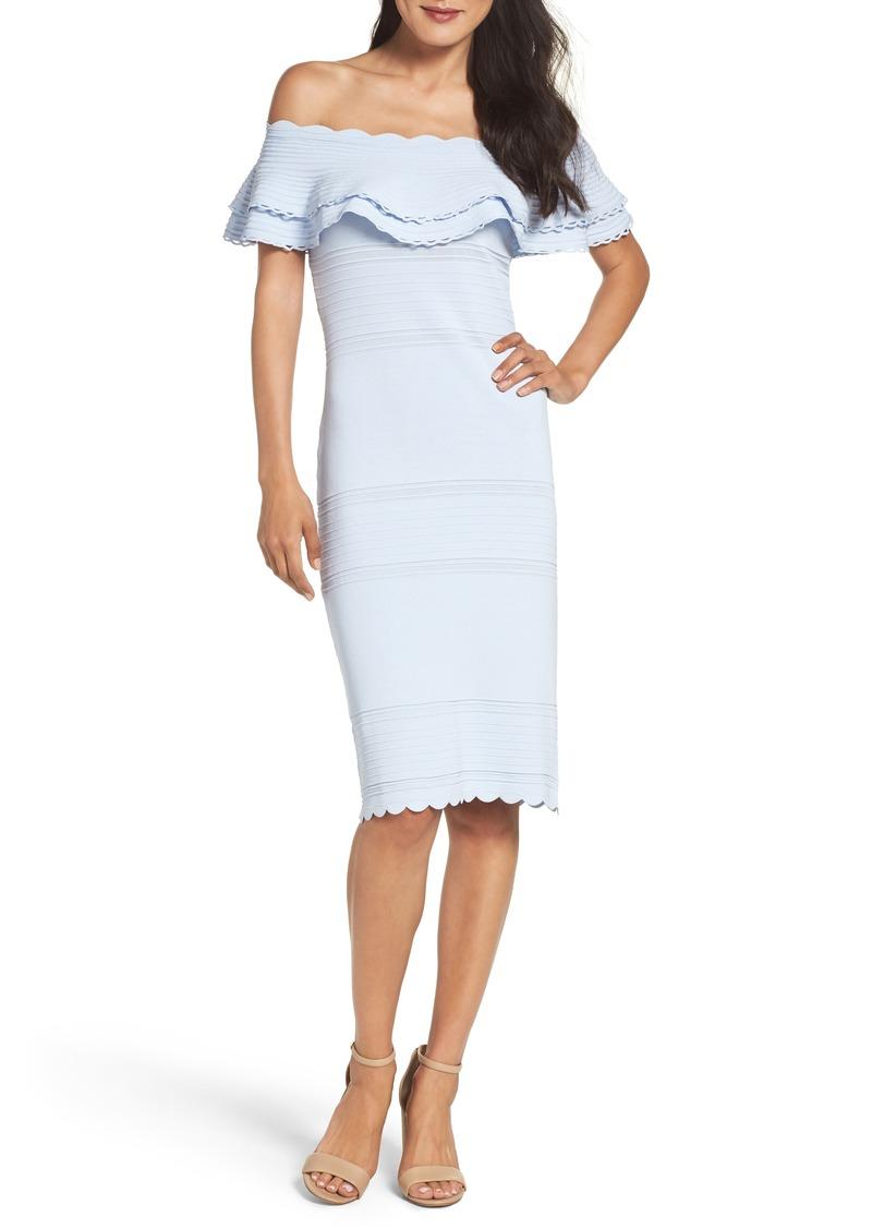 900a1adc557d Eliza J Eliza J Off the Shoulder Sheath Dress (Regular & Petite ...