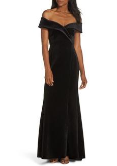Eliza J Off the Shoulder Trumpet Gown (Regular & Petite)