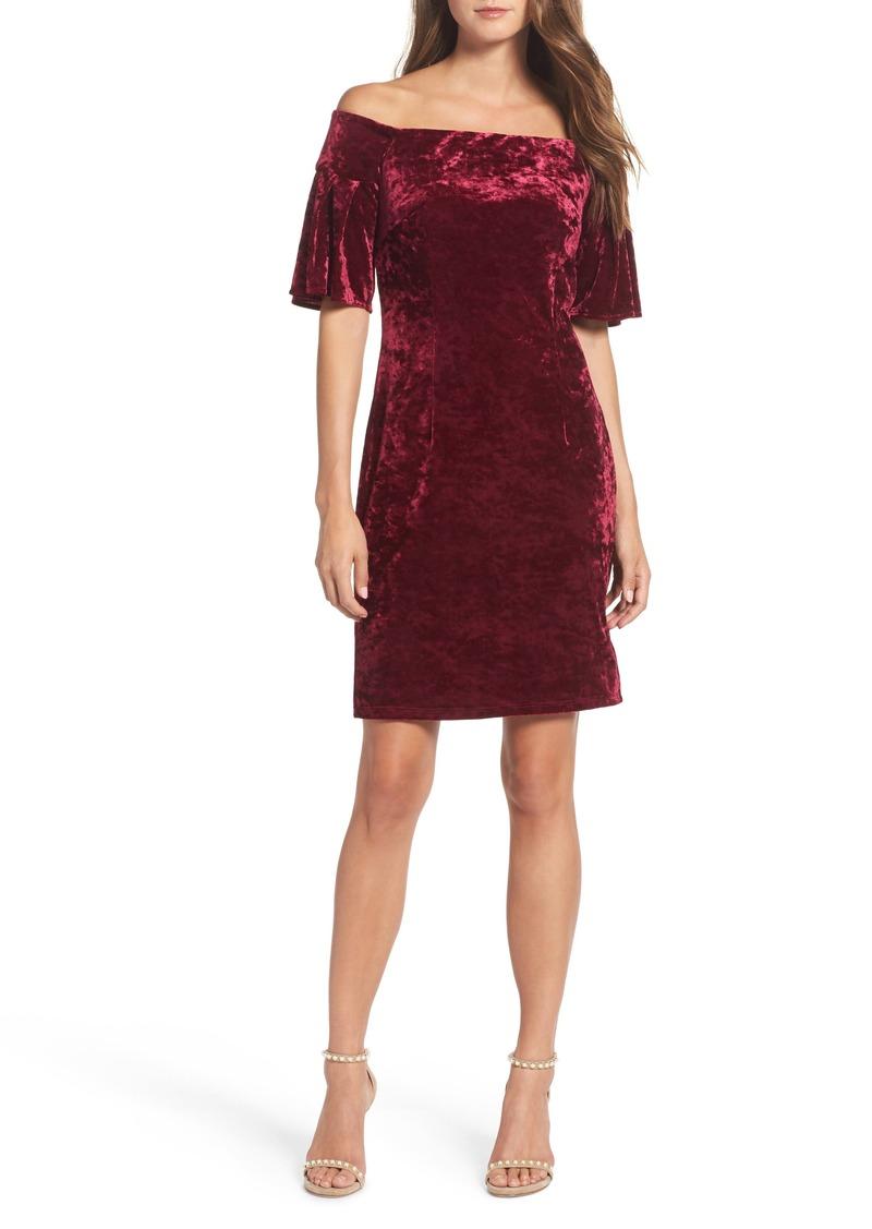 0bf7d27a69dc Eliza J Eliza J Off the Shoulder Velvet Cocktail Dress | Dresses