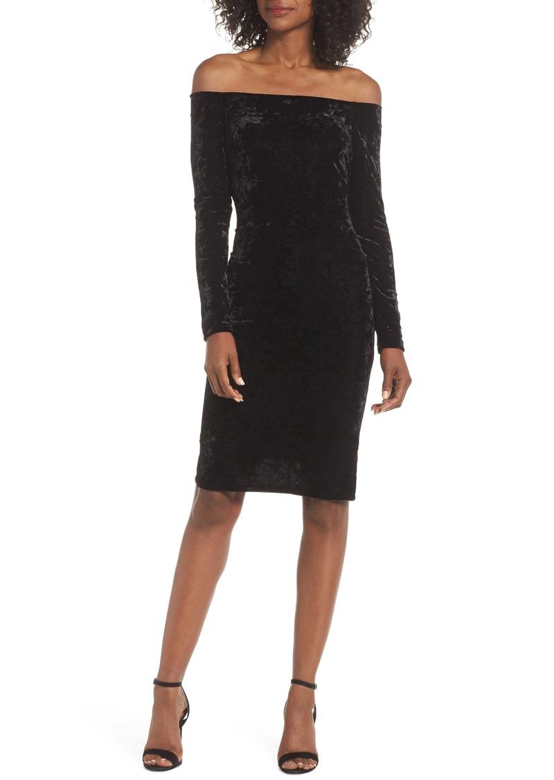 0a3868a2fc44 Eliza J Eliza J Off the Shoulder Velvet Sheath Dress | Dresses