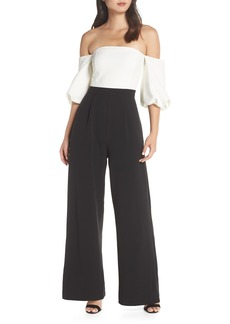 Eliza J Off the Shoulder Wide Leg Jumpsuit