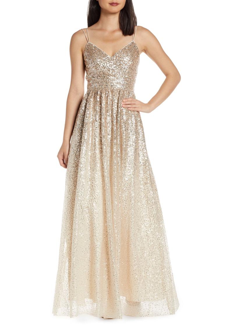 a84d5337 Eliza J Eliza J Ombré Sequin Gown | Dresses