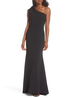 Eliza J One-Shoulder A-Line Gown (Regular & Petite)