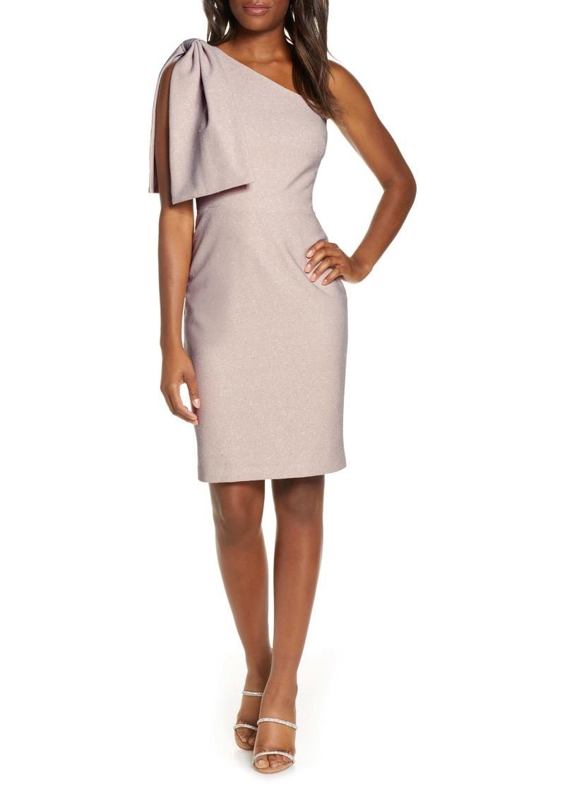 Eliza J One-Shoulder Glitter Cocktail Dress