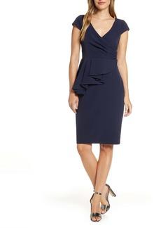 Eliza J Peplum Sheath Dress