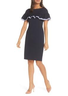 Eliza J Ruffle Detail Sheath Dress