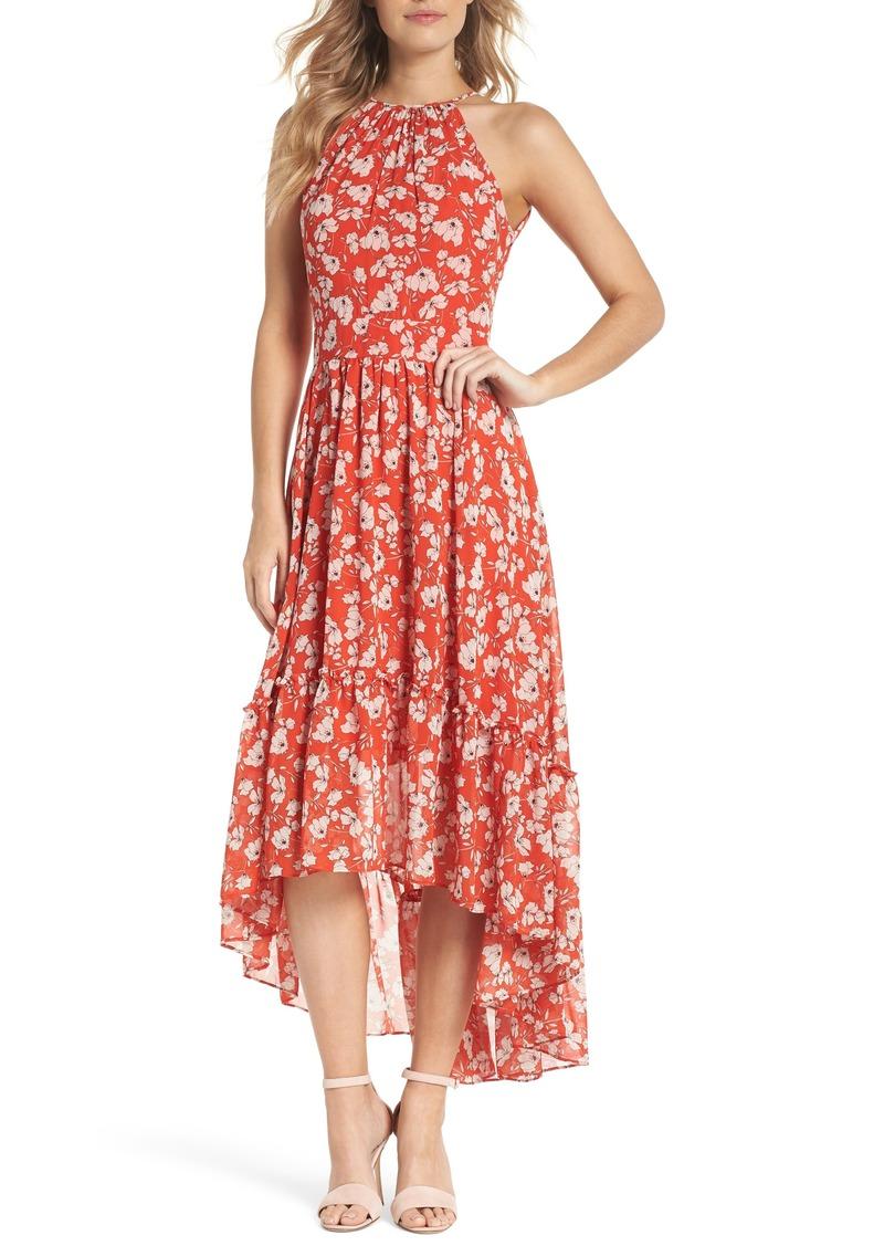 Halter Neck Chiffon Dress