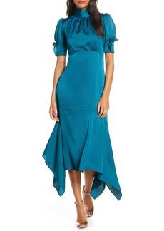 Eliza J Ruffle Puff Sleeve Dress